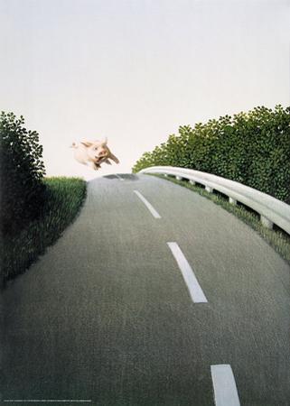Autobahn Pig by Michael Sowa