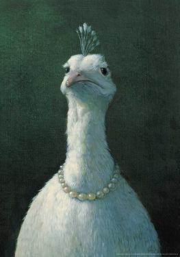 Peacock with Pearls by Michael Sowa