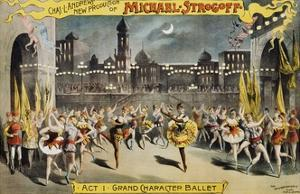 Michael Strogoff Ballet Production Poster