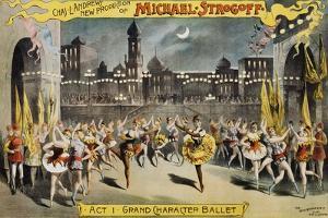 Michael Strogoff Ballet Production Poster