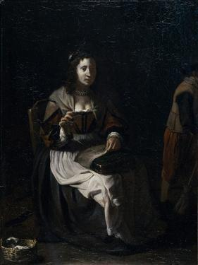 A Woman Sewing by Michael Sweerts