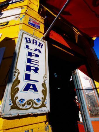 Bar Entrance, La Boca, Buenos Aires, Argentina by Michael Taylor