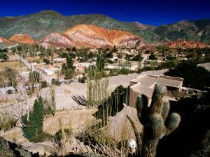 Seven Colours Hill Above Andean Village of Quebrada De Humahuaca, Purmamarca, Argentina by Michael Taylor
