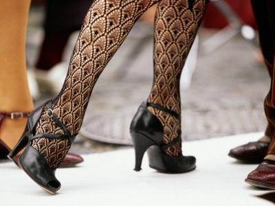 Street Tango Dancers' Legs in San Telmo, Buenos Aires, Argentina