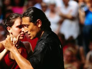 Tango Dancers at Sunday Market in Plaza Dorrego, Buenos Aires, Argentina by Michael Taylor