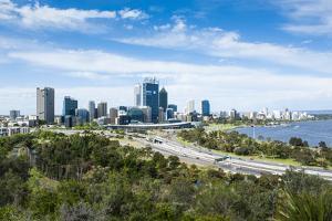 The Skyline of Perth, Western Australia, Australia by Michael