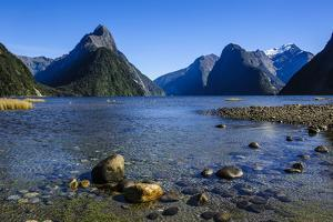 The Steep Cliffs of Milford Sound by Michael
