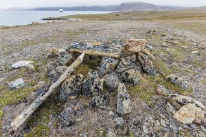 Thule House Remains in Dundas Harbour, Devon Island, Nunavut, Canada, North America by Michael