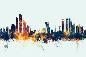 Abu Dhabi Skyline by Michael Tompsett