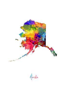 Alaska Map by Michael Tompsett