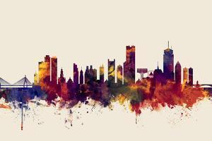 Boston Massachusetts Skyline by Michael Tompsett