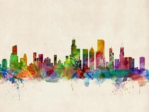 Chicago City Skyline by Michael Tompsett