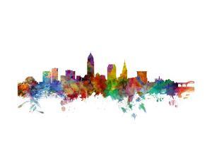 Cleveland Ohio Skyline by Michael Tompsett