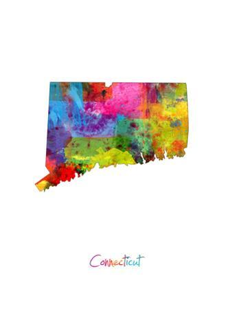 Connecticut Map by Michael Tompsett