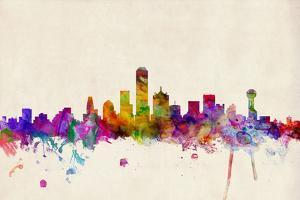 Dallas Texas Skyline by Michael Tompsett