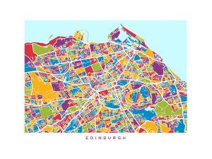 Edinburgh Street Map by Michael Tompsett