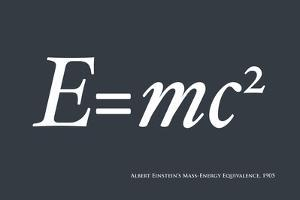 Einstein E equals mc2 by Michael Tompsett