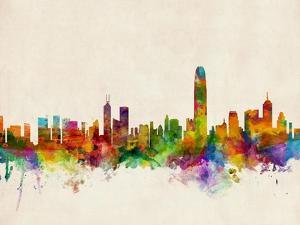 Hong Kong Skyline by Michael Tompsett