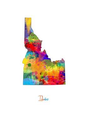 Idaho Map by Michael Tompsett