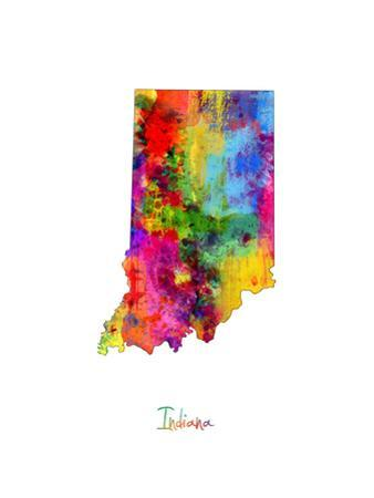 Indiana Map by Michael Tompsett