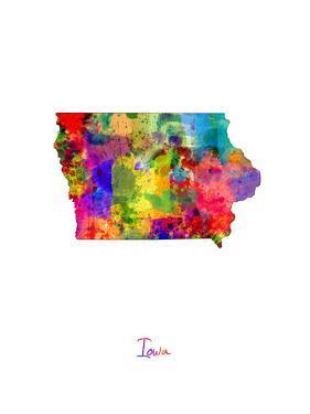 Iowa Map by Michael Tompsett