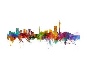 Johannesburg South Africa Skyline by Michael Tompsett