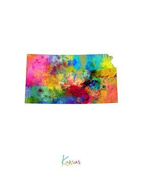 Kansas Map by Michael Tompsett