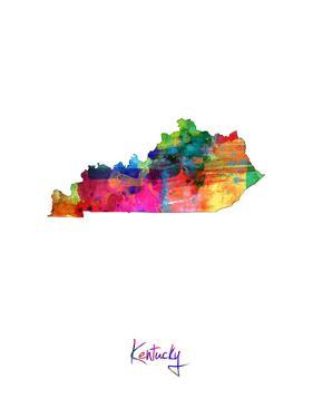 Kentucky Map by Michael Tompsett