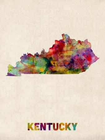 Kentucky Watercolor Map