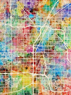 Las Vegas City Street Map by Michael Tompsett
