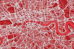 London England Street Map by Michael Tompsett