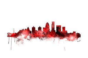 Louisville Kentucky City Skyline by Michael Tompsett