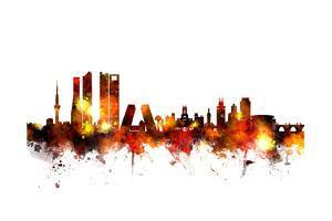 Madrid Spain Skyline by Michael Tompsett