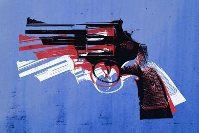 Magnum Revolver on Blue