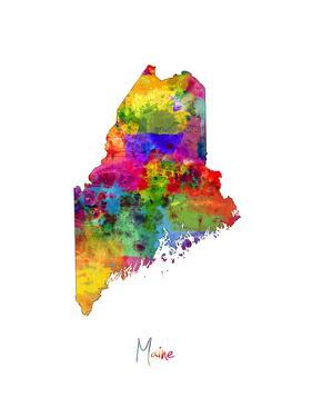 Maine Map by Michael Tompsett