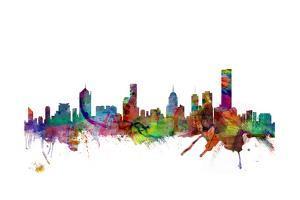 Melbourne Skyline by Michael Tompsett