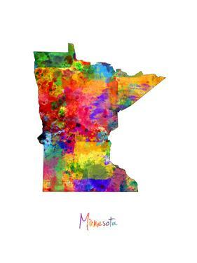 Minnesota Map by Michael Tompsett