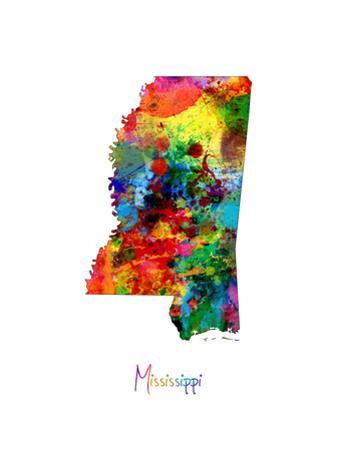Mississippi Map by Michael Tompsett