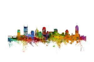 Nashville Tennessee Skyline by Michael Tompsett