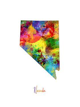 Nevada Map by Michael Tompsett