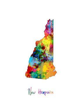 New Hampshire Map by Michael Tompsett