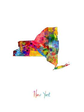 New York Map by Michael Tompsett