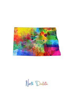 North Dakota Map by Michael Tompsett