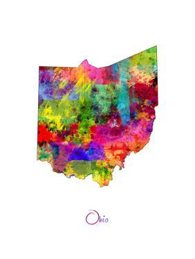 Ohio Map by Michael Tompsett