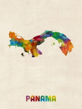 Panama Watercolor Map by Michael Tompsett