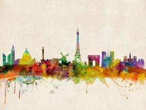 Paris Skyline by Michael Tompsett