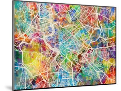 Rome Italy Street Map by Michael Tompsett