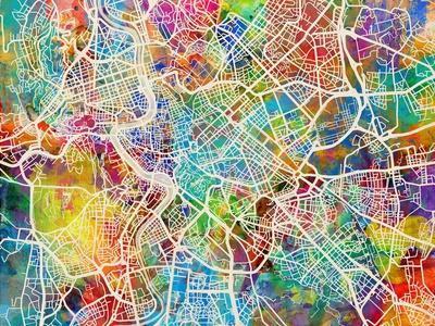 Rome Italy Street Map