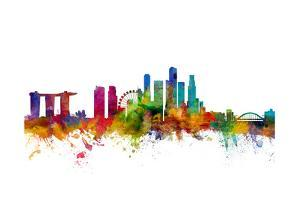 Singapore Skyline by Michael Tompsett