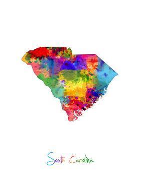 South Carolina Map by Michael Tompsett